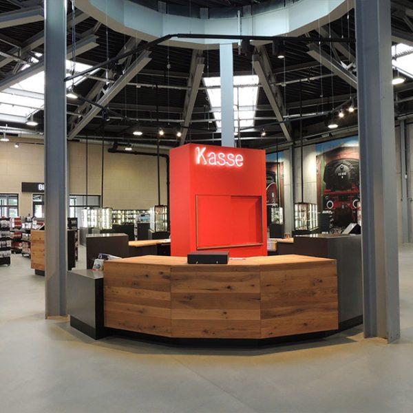 Kooperation mit Architekt: Ladenfläche beim Modellbahnhersteller Märklin
