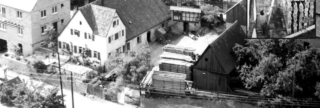 altes Foto der Außenansicht der Firma