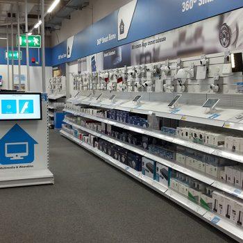 Ladenbau für Conrad Electronic: Aufbau der Ladenfläche