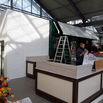 Referenzbild vom Aufbau der Ladenfläche Garten Dehner