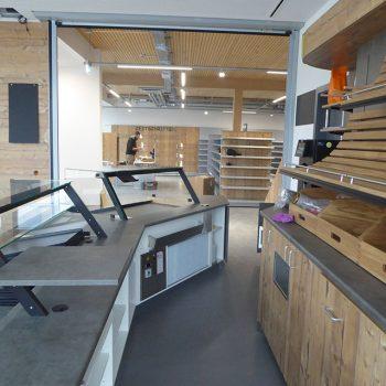 Referenzbild vom Aufbau der Ladenfläche Hartenstein Lebensmittel Discount