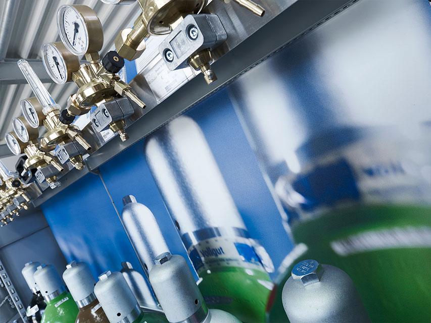 Ladenbau für Linde Gas & More: Aufbau der Ladenfläche
