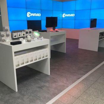 Referenzbild vom Aufbau der Ladenfläche Conrad Electronic